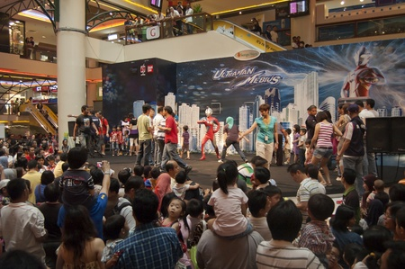 Sungai  Wang Shopping Center, Kuala Lumpur, Malaysia - June 3, 2011- Ultraman Cosmos and Mebius Stage Performace and Meeting Fans