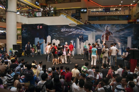 Sungai  Wang Shopping Center, Kuala Lumpur, Malaysia - June 3, 2011- Ultraman Mebius and Cosmos Meets Fans Session and Promotion Stock Photo - 9880705
