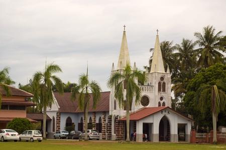 Melacca, malaysia, November 6, 2011 - The old  pre-war catholic church at Ayer salak Stock Photo - 11302007