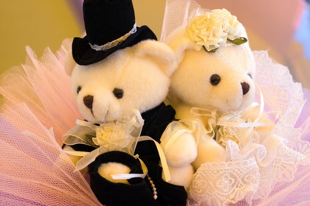 plushie: The wedding bear Stock Photo