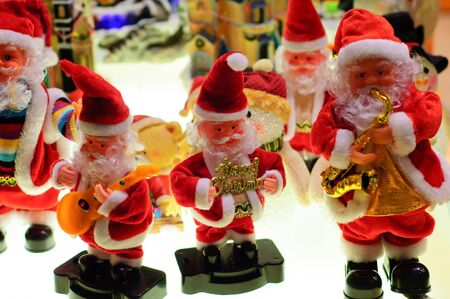 Kuala Lumpur, Malaysia - December 03, 2011 : The santa Clause toy being display at one of the shop at Mid valley Shopping Center Editorial