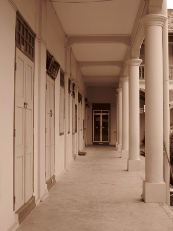 Muar, Johor, Malaysia, December 23, 2012 - the corridor of a local primary school