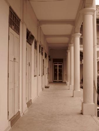 Muar, Johor, Malaysia, December 23, 2012 - the corridor of a local primary school