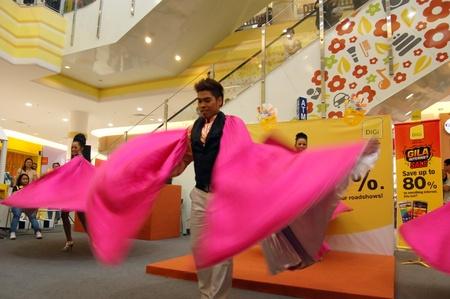 digi: Melacca, Malaysia - January 1, 2012 - The contemporary Dance performance at Jaya Jusco by Digi