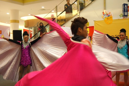 Melacca, Malaysia - January 1, 2012 - The contemporary Dance performance at Jaya Jusco Shopping complex Editorial