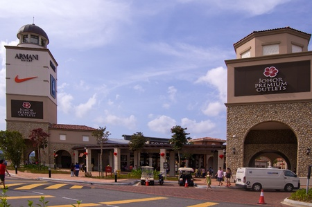 Johor, Malaysia, January 2012 - the newly open Johor Premium Outlet for most of the branded fashion boutique