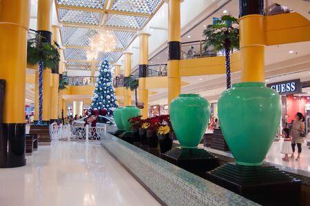 Selangor, Malaysia, December 12, 2011 - Christmas Decoration at Sunway Pyramid Shopping center Editorial