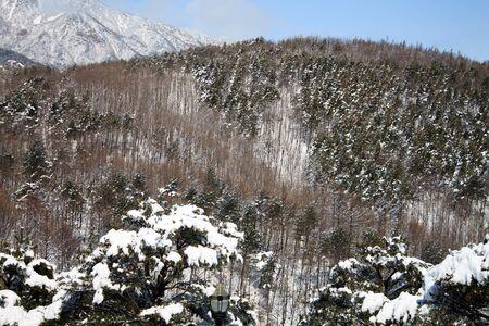 Seoraksan National Park, Cor�e, Mars 03,2012 - Le mont Sorak pendant l'hiver �ditoriale
