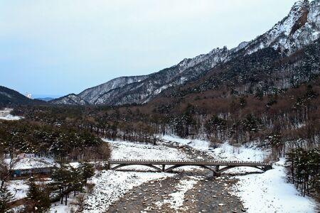 Seoraksan National Park, Korea,  March 03,2012 - The mount sorak during winter time Stock Photo - 16102339