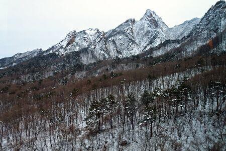 Seoraksan National Park, Korea,  March 03,2012 - The mount sorak during winter time Stock Photo - 16102341