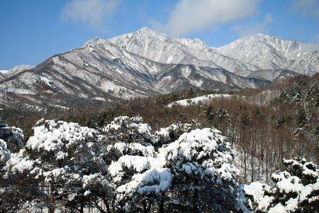 Seoraksan National Park, Korea,  March 03,2012 - The mount sorak during winter time
