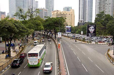 Kuala Lumpur, Malaysia, March 20,2012 - the street view of Malaysia capital city