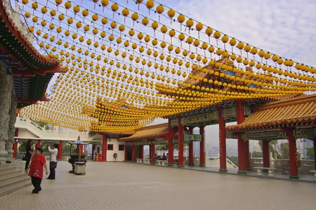 Kuala Lumpur, en Malaisie, Mars 30, 2012 - L'ext�rieur de la c�l�bre Tourist spot Tian Hou Temple �ditoriale