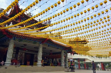 Kuala Lumpur, Malaysia, March 30, 2012 - The Exterior of The Famous Tourist Spot Tian Hou Temple