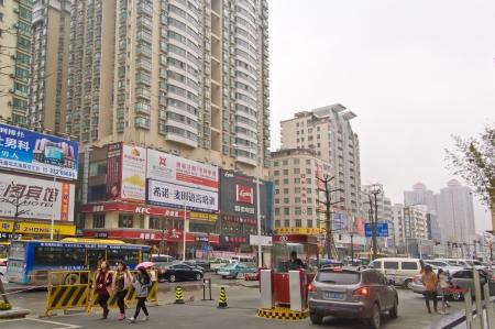 Dongguan, China, June 19 - the main street of the Dongguan City Stock Photo - 16102344