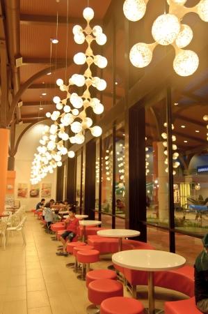 Johor, Malaysia, January 2012 - the restaurant at Johor Premium Outlet