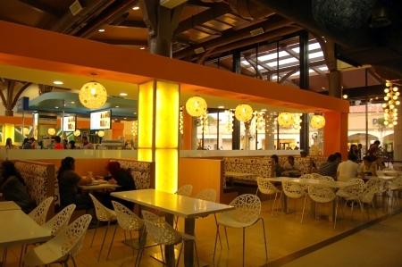 Johor, Malaysia, January 2012 - the cafeteria at Johor Premium Outlet Editorial