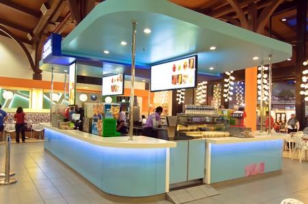 Johor, Malaysia, January 2012 - the food court at Johor Premium Outlet