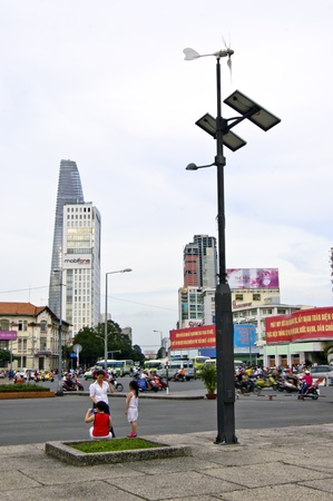 Ho Chi Minh City, Vietnam , Oct 17, 2012 - The city center of the Vietnam Capital City Ho Chi Minh City