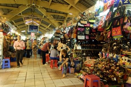 Ho Chi Minh City, Vietnam , Oct 17, 2012 - The Famous Ben Thanh Market at Ho Chi Minh City Editorial