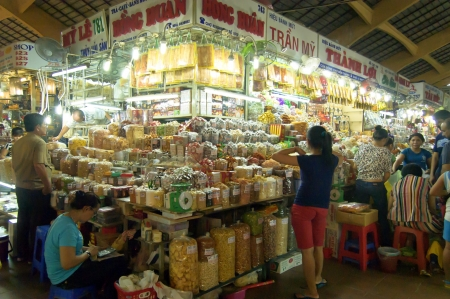 Ho Chi Minh City, Vietnam , Oct 17, 2012 - The Famous Ben Thanh Market at Ho Chi Minh City Editorial