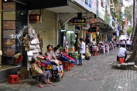 Ho Chi Minh City, Vietnam , Oct 17, 2012 - The local stalls along the street of Ho Chi Minh City Vietnam