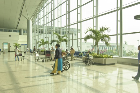 Shenzhen, China, November 5, 2012 - The internal view of Shenzhen International Airport