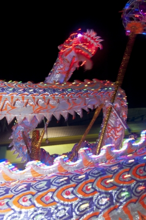 Johor, Malaysia - November 6, 2012 - the dragon dance during the Nine Emperor God Festival Celebration