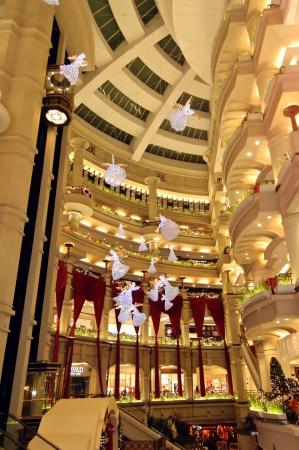 December 24, 2012, Kuala Lumpur, Malaysia - the christmas decoration and lighting at Starhill Shopping Center