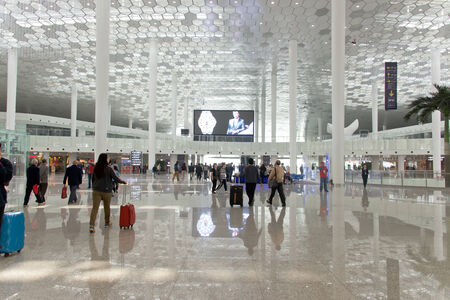 Shenzhen, China, December 13, 2013 - the arrival terminal at the new China Shenzhen airport
