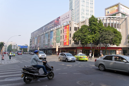 China, Guandong, zhongshan , December 20, 2013 - The street view at  zhongshan commercial area �ditoriale