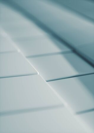 Cubes Tiles Diagonal Background Blue ice color with depth of field for A4 cover. Standard-Bild - 128765684