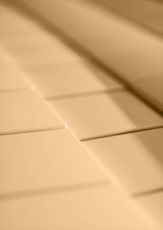 Cubes Tiles Diagonal Background warm color with depth of field for A4 cover. Standard-Bild - 128765761