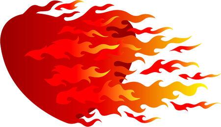 burning heart: Burning heart  is overcame flame