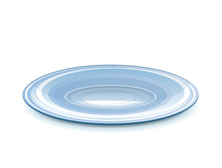 Empty ceramical saucer for dessert, eps10 illustration make transparent objects, isolated