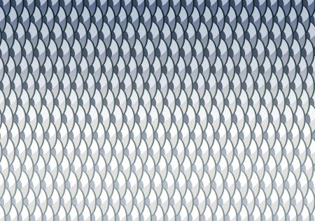 escamas de peces: Las escalas de pescados de fondo de peces carpiano con máscara de recorte Vectores