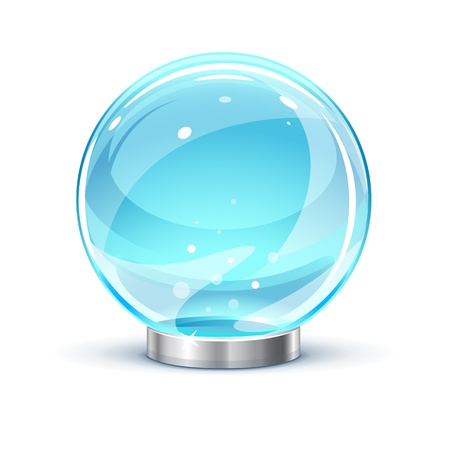 opacity: Magic ball on a metal stand,  illustration make transparent objects and opacity masks on shadows Illustration