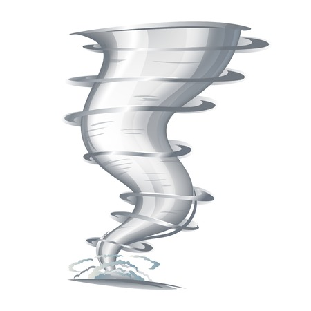 Tornado with spiral twists illustration make transparent objects