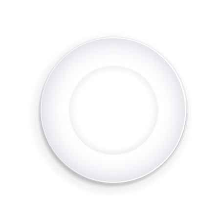 Single empty plate on top, eps10 illustration make transparent objects and opacity mask