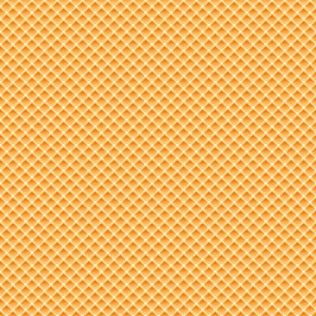 Waffles pattern seamless texture, quality orange background