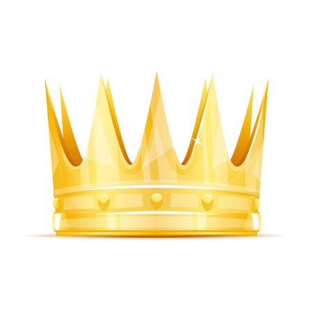Golden king crown with sharp edges