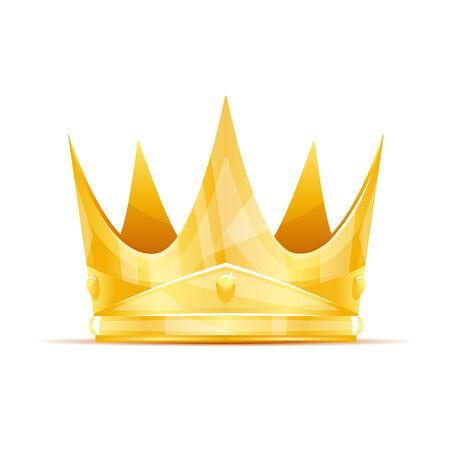 golden crown: Golden queen crown with sharp edges