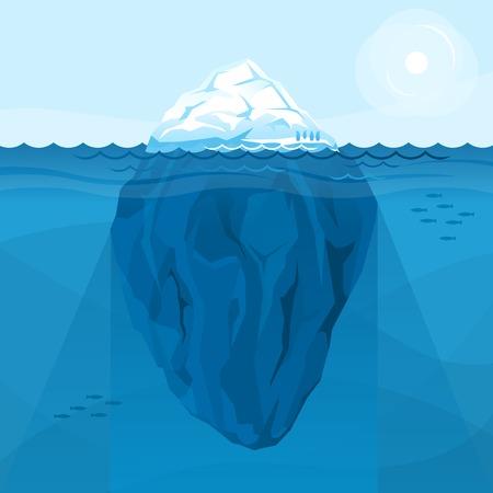 海のフル大きな氷山