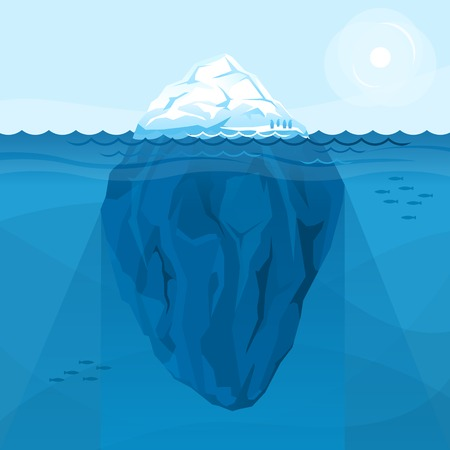 Full big iceberg in the sea