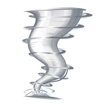 typhoon: Tornado with spiral twists Illustration