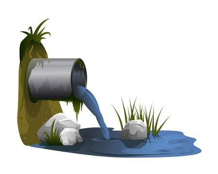 Pollution de l'eau à partir de tuyaux industriels