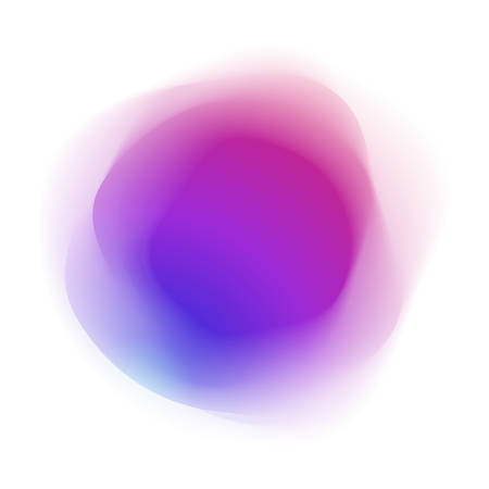 Abstract purple spherical colored form, isolated on white Illustration