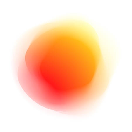 of orange: Abstract orange spherical colored form, isolated on white