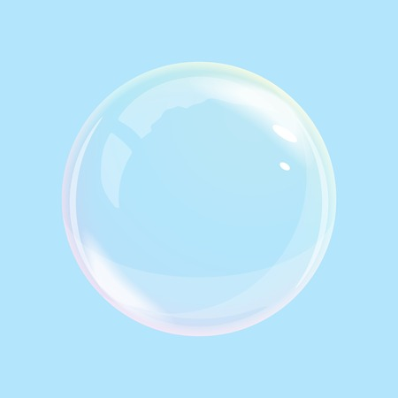 opacity: One soap bubble with transparent and opacity mask Illustration
