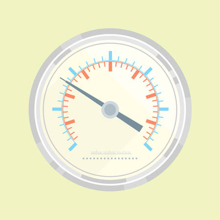 Simple manometer without numbers, flat style illustration